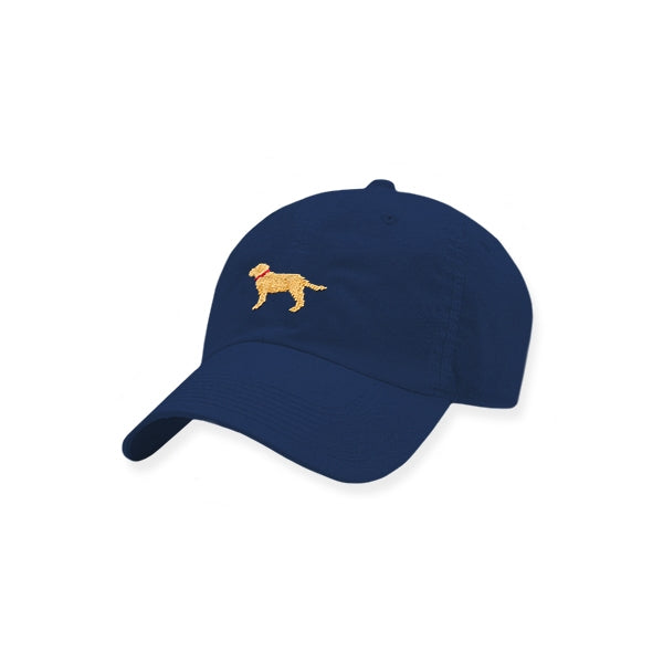 Smathers & Branson Yellow Lab Needlepoint Performance Hat - Navy