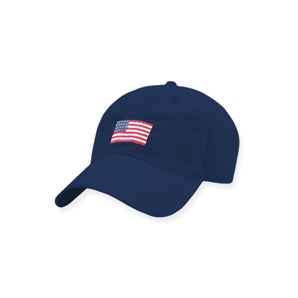 Smathers & Branson American Flag Needlepoint Performance Hat - Navy