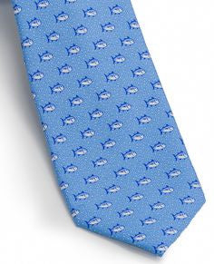 Southern Tide Skipjack Bubbles Tie - True Blue