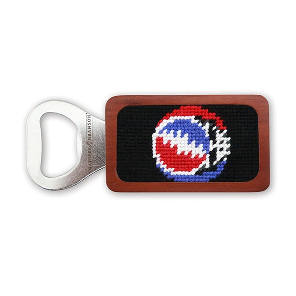 Smathers & Branson Steal Your Face Needlepoint Bottle Opener - Black