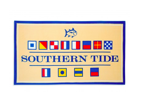 Southern Tide Nautical Flag Beach Towel - Pineapple