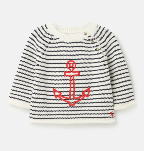 Joules Beau Knitted Sweater - Anchor