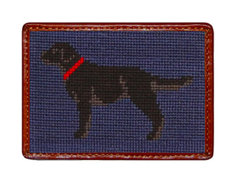 Smathers and Branson Black Lab Needlepoint Card Wallet