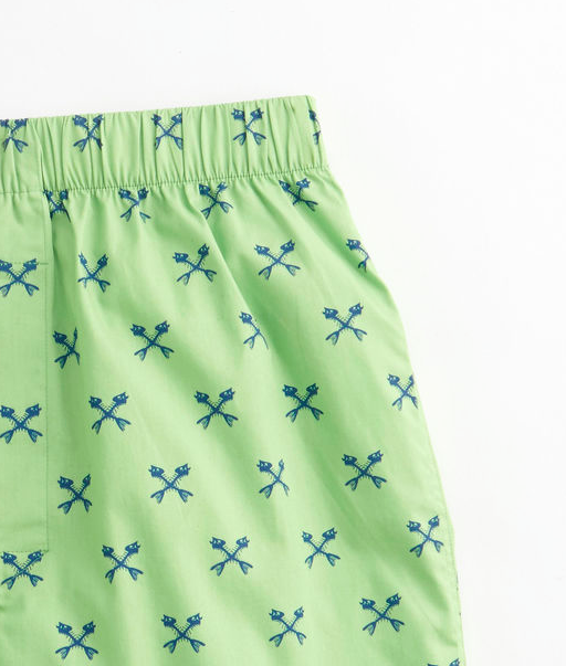 Vineyard Vines Crossed Fishbone Boxers - Lime Ice