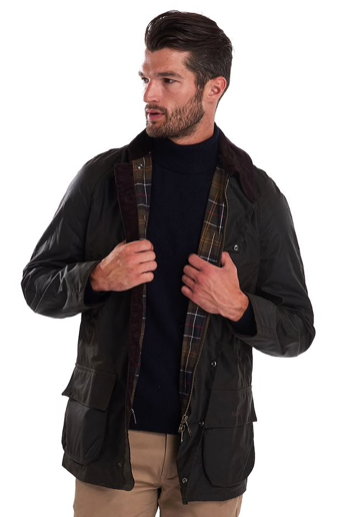 Barbour Bristol Wax Jacket - Olive