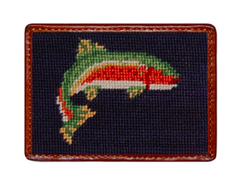 Smathers and Branson Trout  Needlepoint Card Wallet