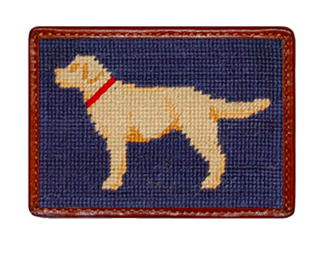 Smathers and Branson Yellow Lab Needlepoint Card Wallet
