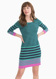 Southern Tide Camille Striped Dress - Clover Green