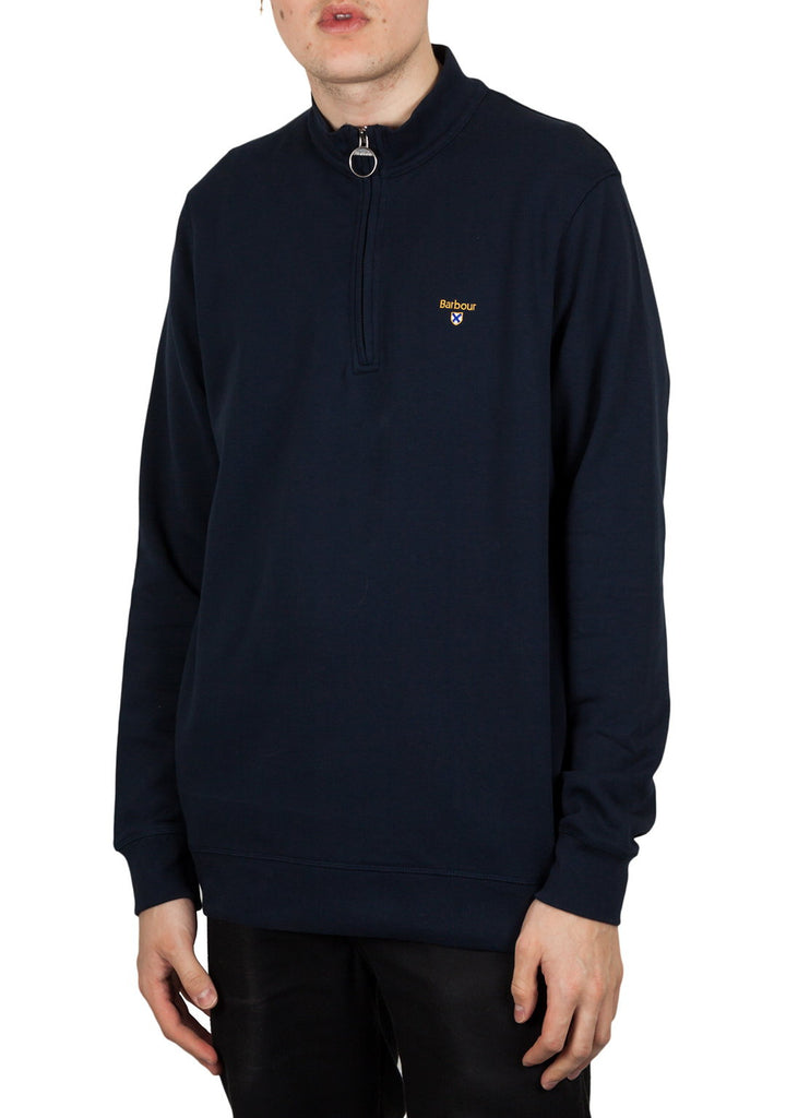 Barbour Saltire Half Zip Sweat - Navy