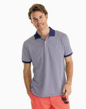 Southern Tide Jack Dinghy Striped Performance Pique Polo - Blue Night
