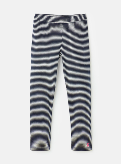Joules Emelia Jersey Leggings - Navy Stripe