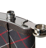 Barbour Tartan Hip Flask Close-up
