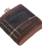 Close-up Flask Barbour Tartan Hip Flask And Cups in Gift Box