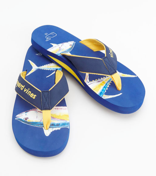 Vineyard Vines Yellow Fin Tuna Flip Flops