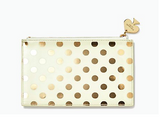 Kate Spade Gold Dots Pencil Pouch