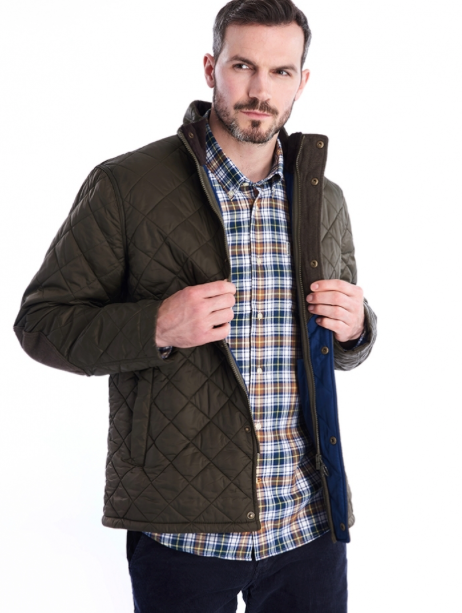 Barbour Men's Hawkshead Quilted Jacket - Olive