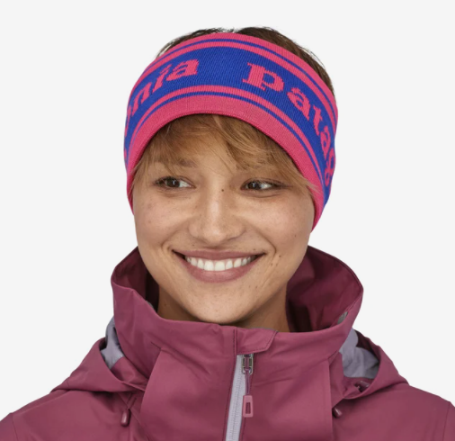 Patagonia Lined Knit Headband - Park Stripe Band: Cobalt Blue