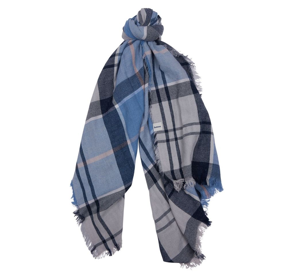 Barbour Freya Wrap - Fade Blue Tartan
