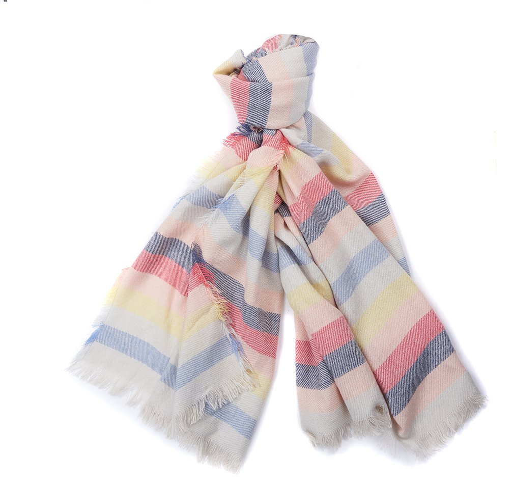 Barbour Freya Rainbow Wrap - Multi Stripe