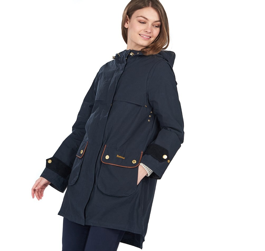 Barbour Icons Re-Engineeered Durham Showerproof Jacket - Navy