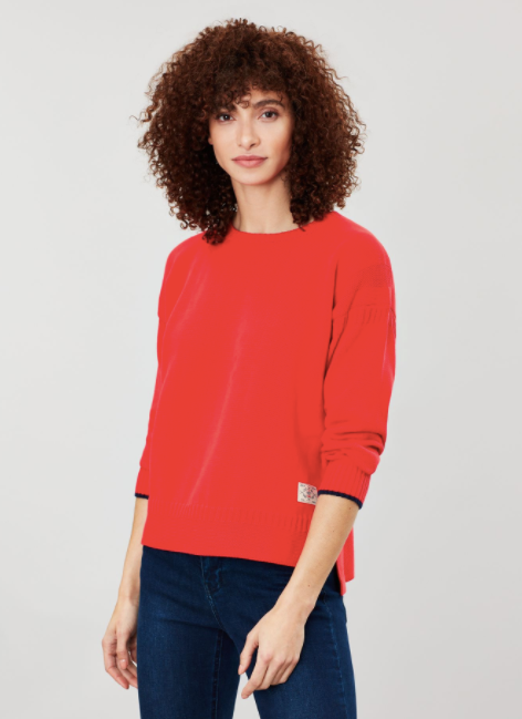 Joules Luciana Boxy Sweater - Red