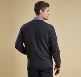 Barbour Essential Lambswool V-Neck - Charcoal