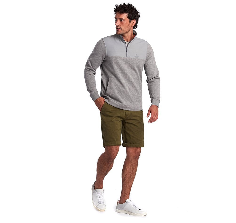 Barbour Cetus Half Zip Sweatshirt - Grey Marl