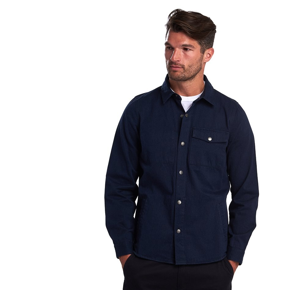 Barbour Mortan Overshirt - Inky Blue