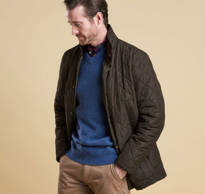 Barbour Devon Quilted Jacket - Olive