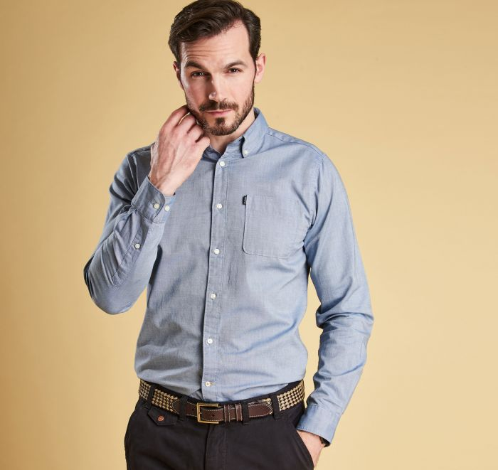Barbour Endsleigh Oxford Tailored Shirt - Ensign Blue Front