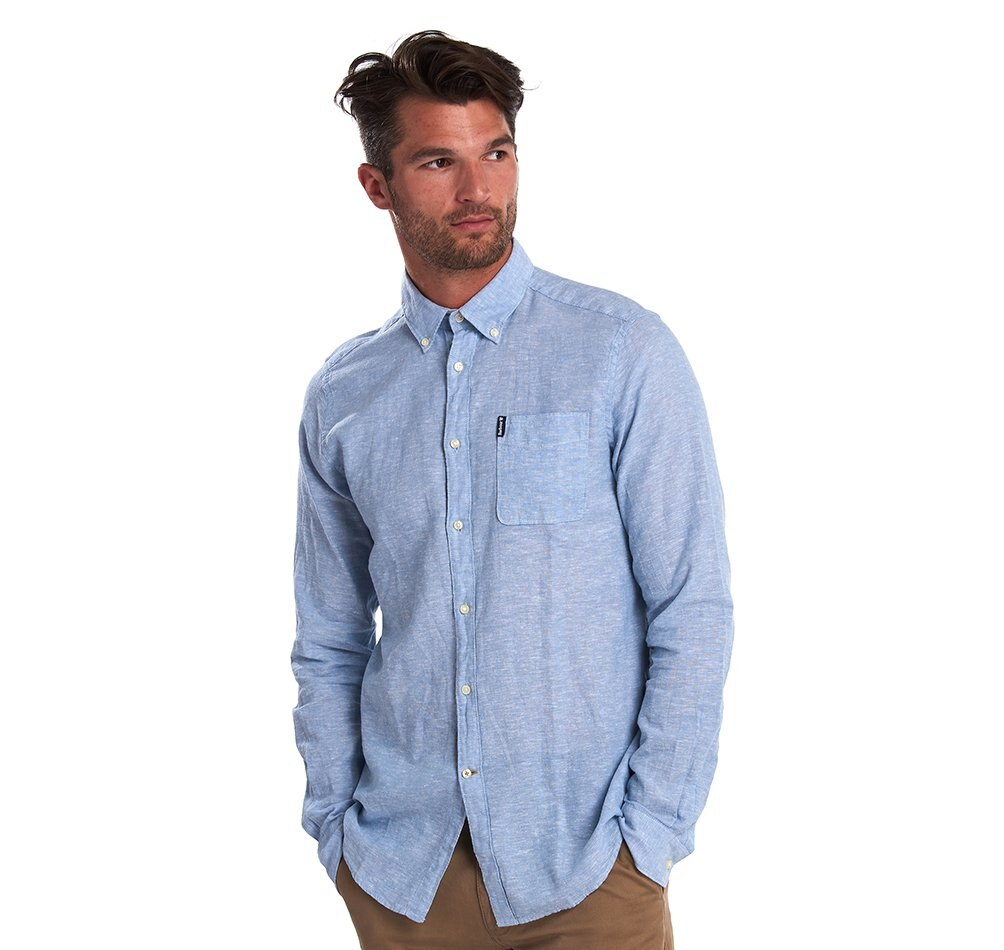 Barbour Miltan Shirt - Powder Blue