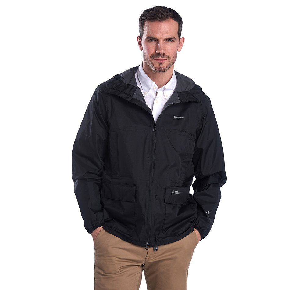 Barbour Ashdown Waterproof Jacket - Black