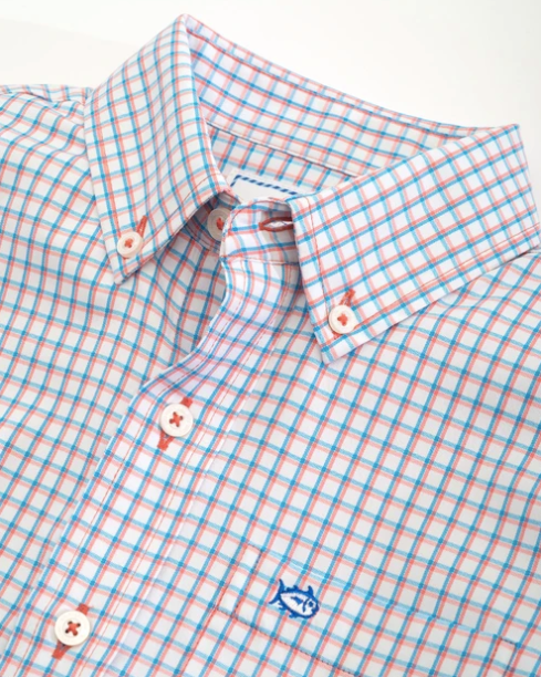 Southern Tide Boy's Intercoastal Button Down Shirt - Mango