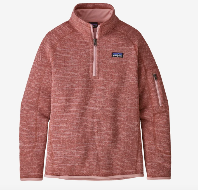 Patagonia Girls' Better Sweater® 1/4-Zip Fleece - Aurea Pink