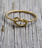 Kiel James Patrick Sailor Forever Knot Ring - Gold