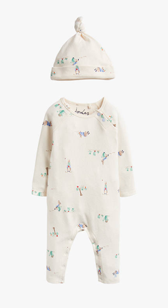Joules Giggle Peter Rabbit Babygrow - Cream