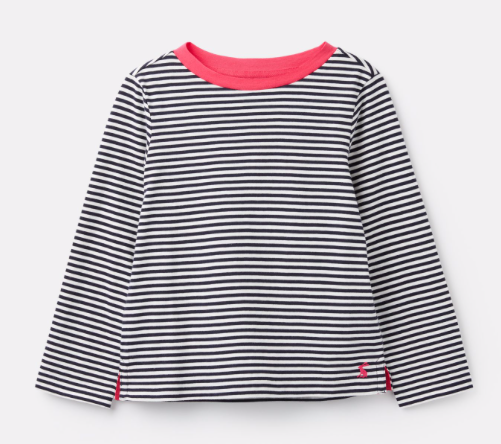 Joules Pascal Striped Lightweight Top - Navy and White Stripe
