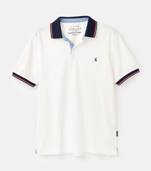 Joules Hanfield Posh Polo Shirt - White