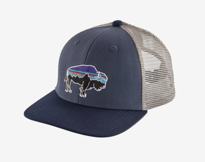 Patagonia Kids' Trucker Hat - Fitz Roy Bison: Dolomite Blue