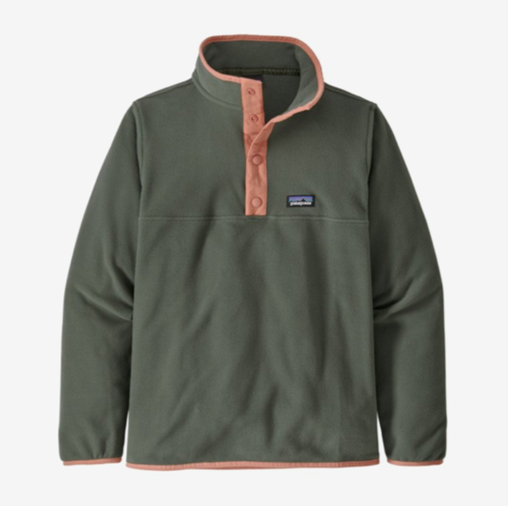 Patagonia Boys' Micro D® Snap-T® Fleece Pullover - Kale Green