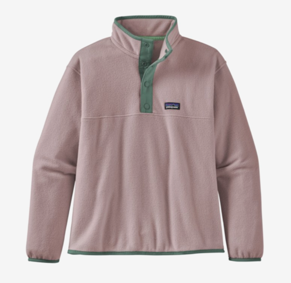 Patagonia Girls' Micro D® Snap-T® Fleece Pullover - Hazy Purple