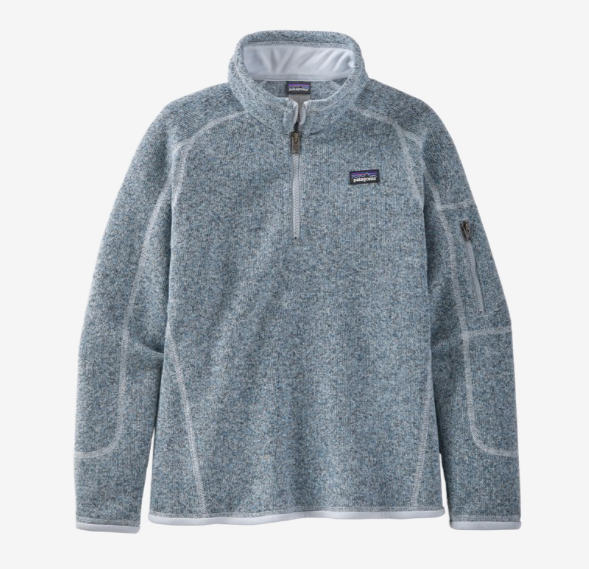 Patagonia Girls' Better Sweater® 1/4-Zip Fleece - Ice Blue