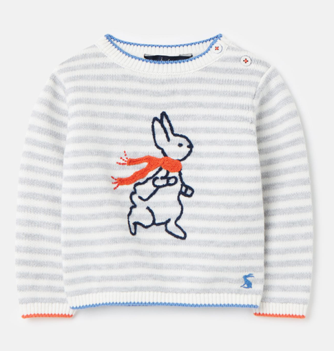 Joules Peter Rabbit Ivy Knitted Sweater - Grey Peter