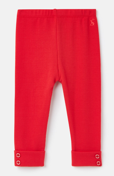 Joules Lula Rib Leggings - Red