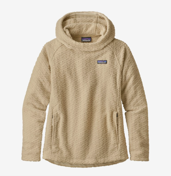 Patagonia Women's Diamond Capra Fleece Hoody - Oyster White