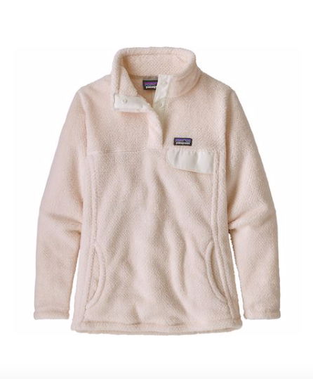 Patagonia Girls' Re-Tool Snap-T® Fleece Pullover - Prima Pink X-dye