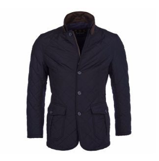 Barbour Men's Quilted Lutz Jacket - Navy