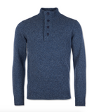 Barbour Patch Half Zip - Inky Blue