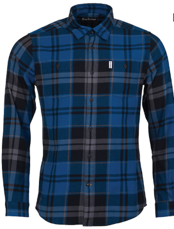 Barbour Men's Bidston Flannel Shirt - Blue Steel