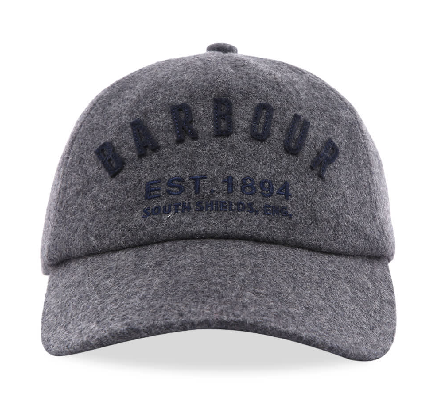 Barbour Prep Logo Wool Sports Cap - Grey